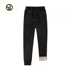 Fleece Velvet Casual Slim Fit Mens Joggers Fur Sweat Pants Fashion Large Size Stretch Long Trouse