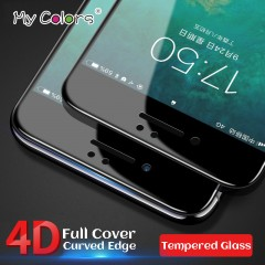 Colors 4D Full Cover Tempered Glass For iPhone 6 glass 6s 7 Plus Screen Protector iphone 7 glass
