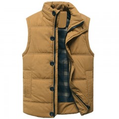 Warm Winter Vest For Cotton Men Autumn Male Casual Hot Solid Button Sleeveless Jacket Classic Men