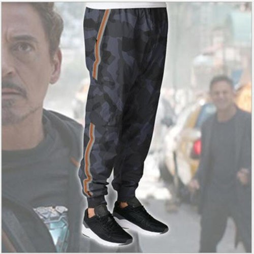 Iron Man Tony Stark Avengers Sports Pencil Pocket Mini Pants Camouflage Trousers