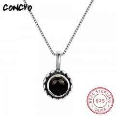 New Arrival Hot Sale Pendant Necklaces Trendy Collier Sautoir Long Concho Jewelry 925 Sterling Ro