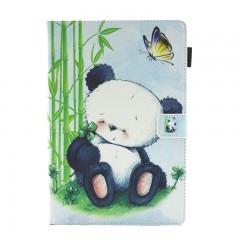 For Huawei MediaPad M3 Lite 10 10.1@ BAH-W09 BAH-AL00 BAH-L09 Cover Funda Cat Panda Pattern PU Le