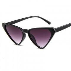 Cute Cat Eye Sunglasses Women Men Oversized RetroTriangle Sun Glasses Luxury Brand Designer Glass Black193