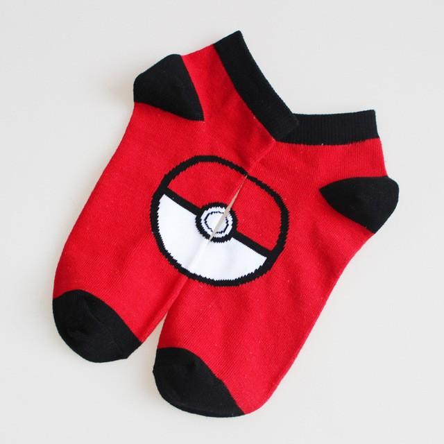 pairs Pokemon Go Pocket Monster Socks Blastoise Pikachu Charmander Cut  Cotton Stitching Pattern A