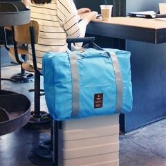 Men Women Luggage Travel Bags Nylon Portable Waterproof Folded Bag Backpack blue