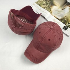 Solid Distressed Vintage Cotton Polo Style Baseball Ball Cap Hat 100% Cotton NEW Casquette