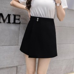 New Women Shorts Skirts Spring Fashion High Waist Shorts Female Casual Loose Culottes Black/Pink/