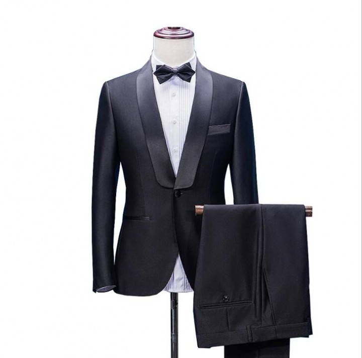 590fb33af8f Men Suit Wedding Suits For Men Shawl Collar 2 Pieces Slim Fit Suit Mens  Tuxedo Jacket