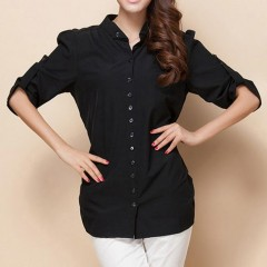 Plus Size camisa feminina Slim Loose Casual Shirt Large Size Women Clothing Sheer Blouses Xxxxl 4
