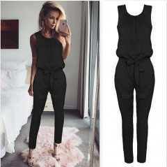 Sleeveless jumpsuit women long romper 2018 New summer women lady Fashion jumpsuit coveralls sexy