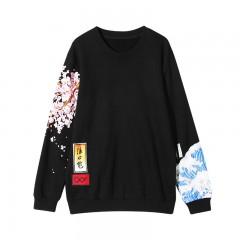 VARBOO_ELSA Casual Women Hoodies Japan Style Sweatshirt Thicken Harajuku boyfriend wind Cherry Pr