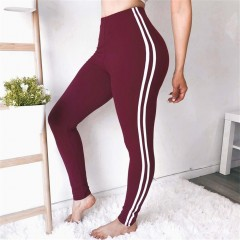 New Fahion Woman Sporting Pants Casual Slim Sexy Camouflage Trousers Elastic High Waist Femalepants Burgundy200002984 S