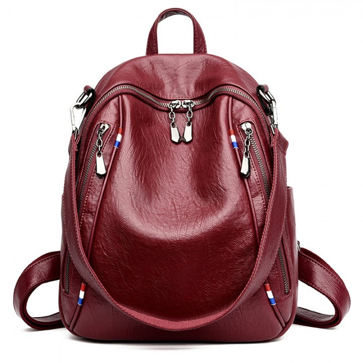 29bbfacbd7b Fashion Women Backpack pu Leather Vintage Backpacks for Teenage Girls  Female School Bag Bagpack Red10