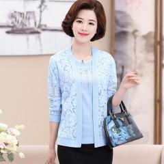 women outerwear sweater autumn 2018 mother clothing plus size S-XXXL cashmere sweater cardigan Blue173 S