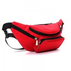 Waterproof Camouflage Fanny Pack For Men Travel Ride Nylon Walking Hip Bum Bag Belt Women Mobile Red10 33CM*13CM*10CM