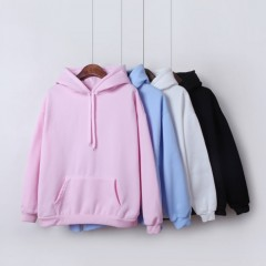 Spring Autumn Women Hoodies Bts Kpop Female Sweatshirt With a Hood Long Sleeve Pullover Casual black193 M