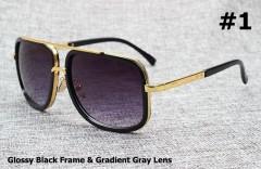 2018 Fashion 18K Gold Mach One Adam Lambert Aviation Sunglasses Vintage Brand Design Sun Glasses 1175