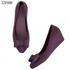 Spring Autumn Women Shoes Ladies Round Toe Heels Pumps Shoes Woman Slip On Soft Wedding Shoes Fem black193 6.5