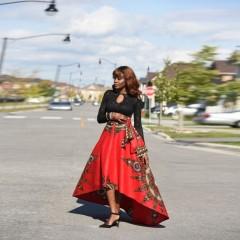 Women Maxi Beach Skirt Floral Print High Waist Pleated Floor Length Red Yellow Autumn Winter Summ