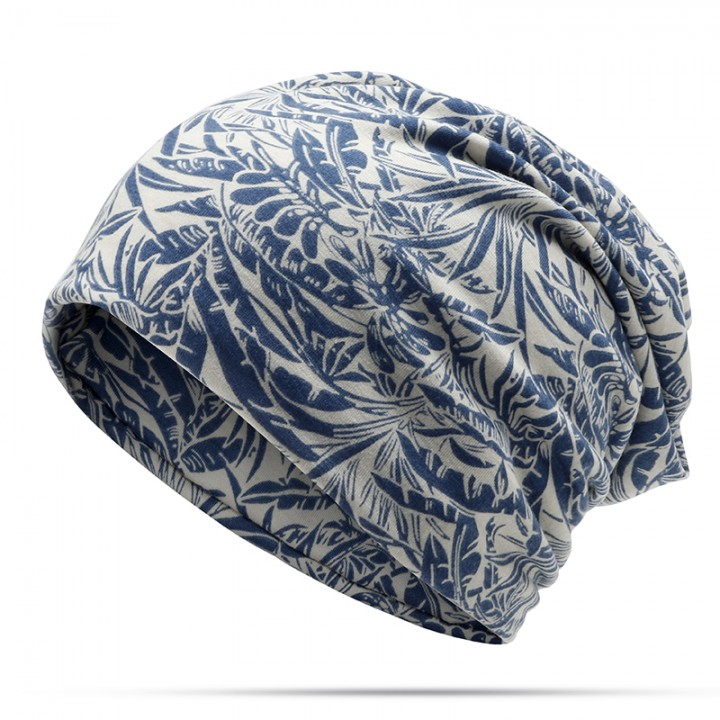 1760cb299e9 Double Use Cotton Ponytail Beanies Cap Turban Hat Women Printed Slouchy  Fashion Breathable Beanie
