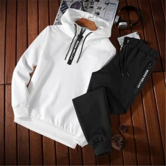 Tang cool2018 spring Autumn Men Tracksuit Two Piece Sets Pullover Hoodies + Pants Sportwear Suit