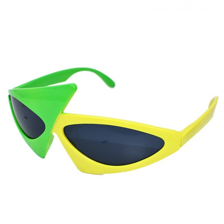 e382abb165b5 Roy Purdy Style Hip-Hop Glasses Asymmetric Triangular Sunglasses Novelty  Green Purple Yellow Cont