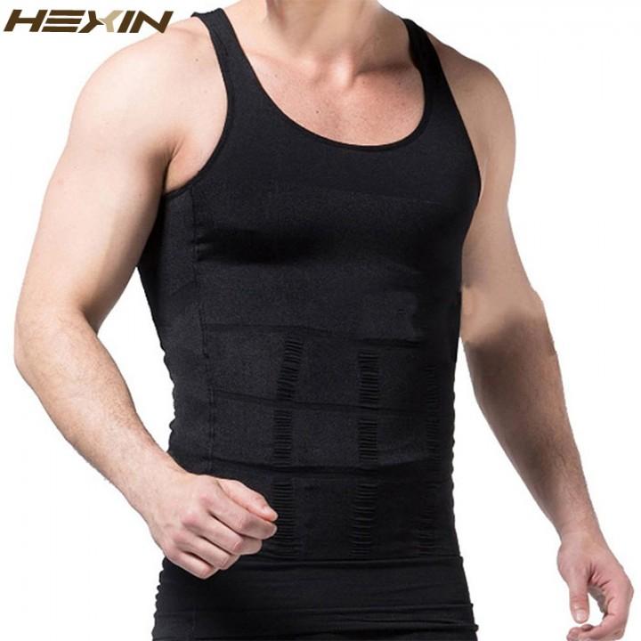 de8130c4c2aab8 Mens Slimming Body Shapewear Corset Vest Shirt Compression Abdomen Tummy  Belly Control Slim Waist