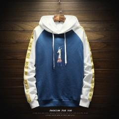 Men 2018 Autumn New Mens Casual Giraffe Cartoon Print Hooded Sweatshirt Trend Clothing Hip Hop Sw
