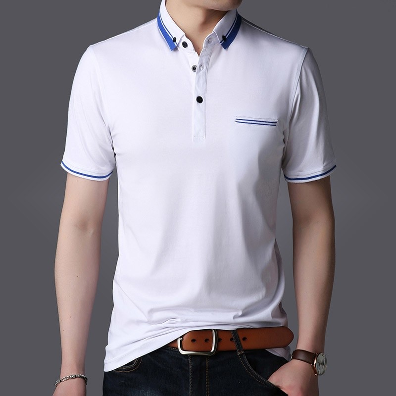 0bc293c021b1 New Fashion Brands Summer Polo Shirt Men Turn Down Collar Slim Fit Polo  Shirts Short Sleeve Men B  Product No  2105105. Item specifics  Seller ...