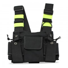 Walkie Talkie Pouch Chest Pack Pocket Two Way Radio Bag Holder Carry Case for Motorola Yaesu TYT