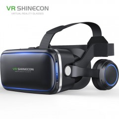 VR shinecon SC-G04 PU Leather 3D Cardboard Helmet Virtual Reality VR Glasses Headset Stereo Box f