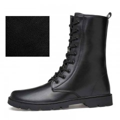 Mens Ankle Boots Autumn Winter High Top Martin Boots Genuine Leather Male Casual Shoes Warm Men R