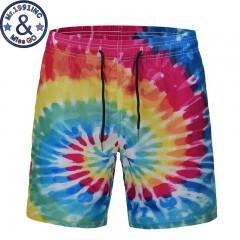 Quick Dry Summer Boardshorts 2018 Fashion 3D Creative Colorful Print Summer Beach Board Shorts Me