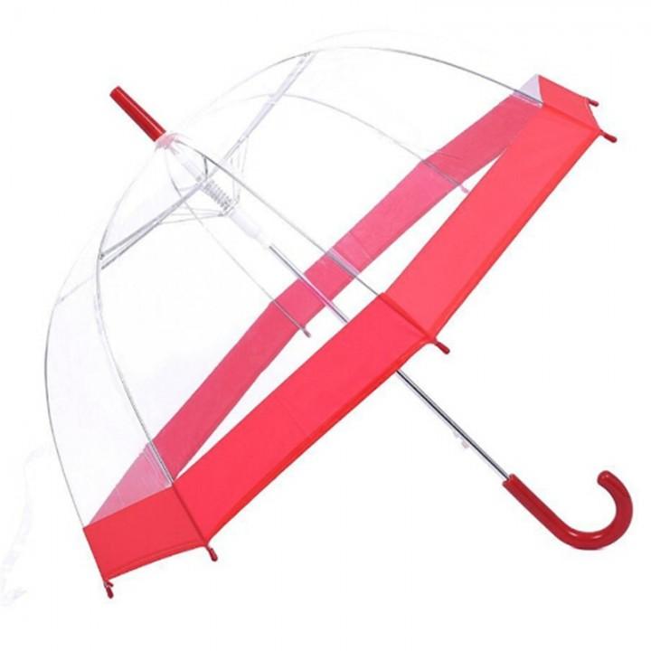 166662a8beec Pcs Plastic Transparent Umbrella Long Handle Mushroom Women Parasol Rain  Umbrella Semi-automatic
