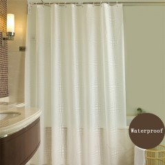 Curtain White Pattern PEVA Bathroom Waterproof Shower Curtains With Plastic Hooks 80x180cm,120x20