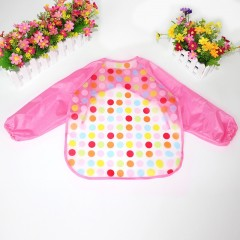 newborn baby girls bibs cute cartoon pattern baby bibs long sleeve apron soft waterproof baby gir