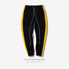 Spring Fashion New Black Stripe Sweatpants Men Green Sweat Pants Hip Hop Streetwear Trackpants Sw