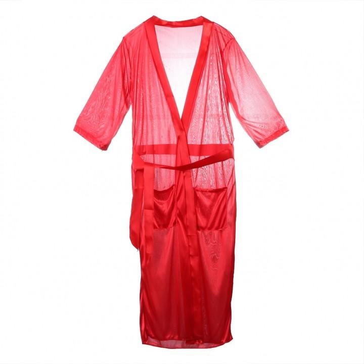 dda7303a81 Women Luxury sexy Nightdress Satin Kimono Sleepwear Lingerie Dressing Gown  long Robe v neck lace