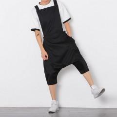 Size Mens Jumpsuit Fashion Male Bib Pants Overalls Casual Loose Harem Pants Hip-Hop Low Crotch Tr