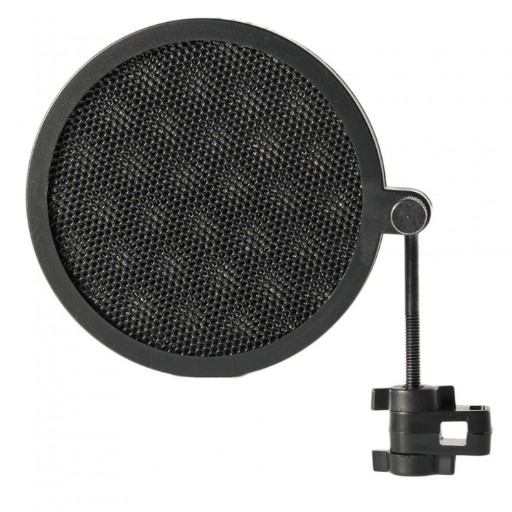 Double Layer Studio Microphone Mic Wind Screen Pop Filter/ Swivel Mount / Mask Shied For Speaking