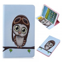 Painting PU Leather Case for Samsung GALAXY Tab S 8.4 SM T700 T705 T705C Flip Stand Cover Case wi