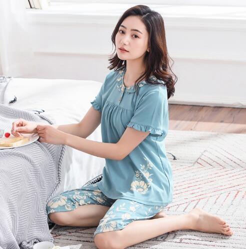 77c8664a78 Short Sleeve Sleepwear Pyjamas 100%Cotton Round Neck Loose Comfortable Soft  Plus Size M-3XL Women  Product No  2743679. Item specifics  Seller ...