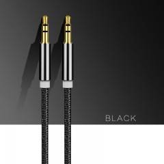 Quality Braided Rope AUX 3.5mm Jack Audio Cable Male To Male for Smartphone Mini Bluetooth Speake
