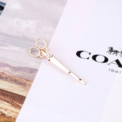 Women Golden Silvery Scissors Shape Hair Clip Hairpins Ladies Metal Headpiece Harajuku Headdress
