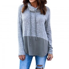Womens Fitted Mid-Long Autumn Winter Long Sleeve Pullover Sweatshirts Camouflage Print High Colla