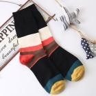 2018 Fashion Mens Casual Cotton Medium Socks Design Multi-Color Socks Flexible Floor Mens Socks F