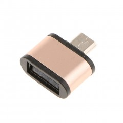 USB 2.0 Micro USB Male to USB Female Host OTG Adapter for Android Gold