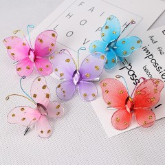 MISM 5pcs/lot New Arrival Fashion Style Children Hair Accessories Girls Sweet Glitter Butterfly H