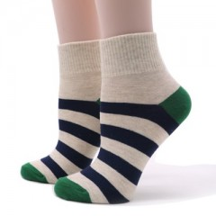 1pair Colorful Fashion Stripe Sock Womens Short Socks Casual Comfortable Cotton Socks Low Cut Ank