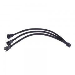 To 3 4-Pin Extension Cable 1 To 3 Ways 4-pins CPU PWM Case Cooling Fan Splitter Hub Power Fan-out